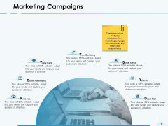 Marketing Campaigns Online Advertising Ppt PowerPoint Presentation Outline Graphics Tutorials