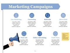 Marketing Campaigns Ppt PowerPoint Presentation File Ideas