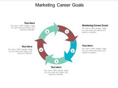 Marketing Career Goals Ppt PowerPoint Presentation Summary Samples Cpb