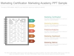 Marketing Certification Marketing Academy Ppt Sample