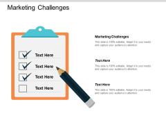 Marketing Challenges Ppt PowerPoint Presentation Slides Inspiration Cpb