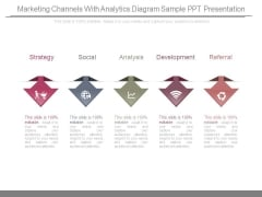 Marketing Channels With Analytics Diagram Sample Ppt Presentation