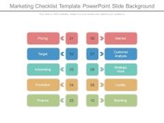 Marketing Checklist Template Powerpoint Slide Background