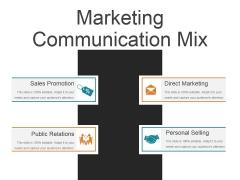 Marketing Communication Mix Ppt PowerPoint Presentation Samples