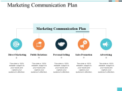 Marketing Communication Plan Ppt PowerPoint Presentation Icon Graphics Example
