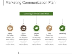 Marketing Communication Plan Ppt PowerPoint Presentation Model Show