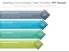 Marketing Communication Sales Promotion Ppt Sample