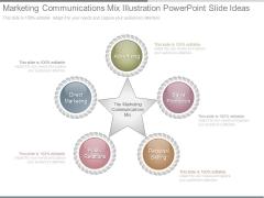 Marketing Communications Mix Illustration Powerpoint Slide Ideas
