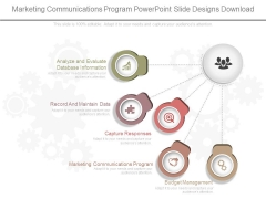 Marketing Communications Program Powerpoint Slide Designs Download