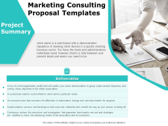 Marketing Consulting Proposal Templates Ppt PowerPoint Presentation Ideas Designs Download PDF
