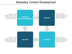 Marketing Content Development Ppt PowerPoint Presentation Slides Elements Cpb