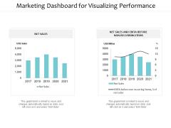 Marketing Dashboard For Visualizing Performance Ppt PowerPoint Presentation Summary Slide Download