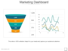 Marketing Dashboard Ppt PowerPoint Presentation Infographic Template Clipart