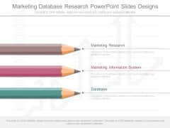 Marketing Database Research Powerpoint Slides Designs