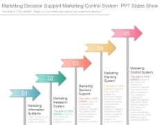 Marketing Decision Support Marketing Control System Ppt Slides Show