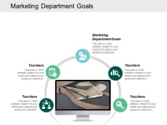 Marketing Department Goals Ppt Powerpoint Presentation Slides Cpb