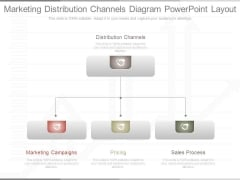 Marketing Distribution Channels Diagram Powerpoint Layout