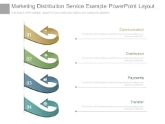 Marketing Distribution Service Example Powerpoint Layout