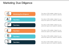 Marketing Due Diligence Ppt PowerPoint Presentation Professional Smartart Cpb
