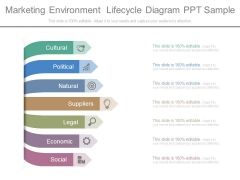 Marketing Environment Lifecycle Diagram Ppt Sample