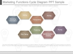 Marketing Functions Cycle Diagram Ppt Sample