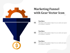 Marketing Funnel With Gear Vector Icon Ppt PowerPoint Presentation Outline Influencers PDF