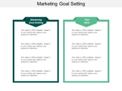 Marketing Goal Setting Ppt Powerpoint Presentation Pictures Tips Cpb