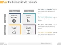 Marketing Growth Program Ppt PowerPoint Presentation Background Images