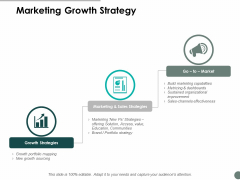 Marketing Growth Strategy Ppt Powerpoint Presentation Infographic Template Outline