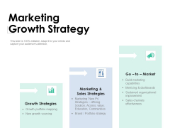 Marketing Growth Strategy Ppt PowerPoint Presentation Outline Tips