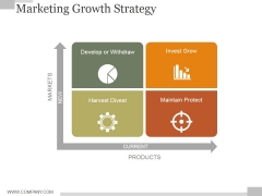 Marketing Growth Strategy Slide Ppt PowerPoint Presentation Model