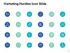 marketing hurdles icon slide management ppt powerpoint presentation show aids