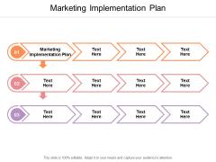Marketing Implementation Plan Ppt PowerPoint Presentation Slides Design Ideas Cpb