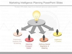 Marketing Intelligence Planning Powerpoint Slides
