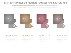 Marketing Investment Products Template Ppt Example File