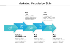 Marketing Knowledge Skills Ppt PowerPoint Presentation Outline Graphics Cpb