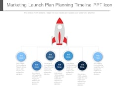 Marketing Launch Plan Planning Timeline Ppt Icon