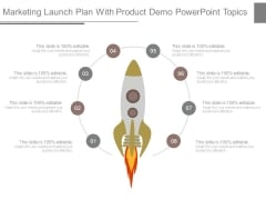 Marketing Launch Plan With Product Demo Powerpoint Topics