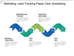 Marketing Lead Tracking Paper Click Advertising Business Opportunity Ppt PowerPoint Presentation Pictures Example