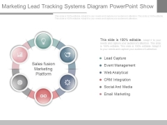 Marketing Lead Tracking Systems Diagram Powerpoint Show