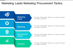 Marketing Leads Marketing Procurement Tactics Ppt PowerPoint Presentation Model Background Designs