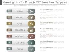 Marketing Lists For Products Ppt Powerpoint Templates
