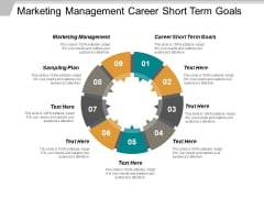 Marketing Management Career Short Term Goals Sampling Plan Ppt PowerPoint Presentation Pictures Example