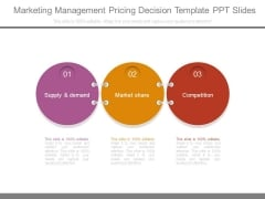 Marketing Management Pricing Decision Template Ppt Slides