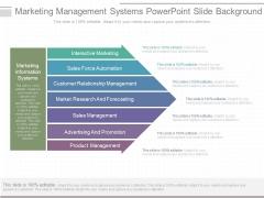 Marketing Management Systems Powerpoint Slide Background
