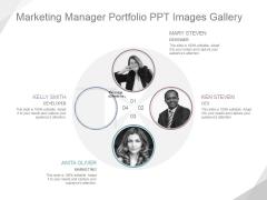 Marketing Manager Portfolio Ppt PowerPoint Presentation Visuals