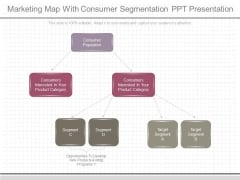 Marketing Map With Consumer Segmentation Ppt Presentation