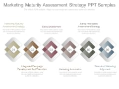 Marketing Maturity Assessment Strategy Ppt Samples