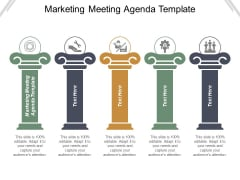Marketing Meeting Agenda Template Ppt PowerPoint Presentation Infographics Background Images Cpb