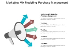 Marketing Mix Modelling Purchase Management Ppt PowerPoint Presentation Professional Slide Portrait Cpb